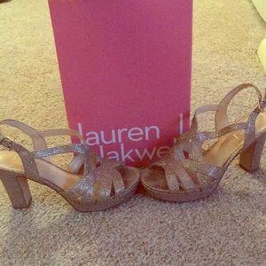 Lauren Blakwell Gold Nova Heels